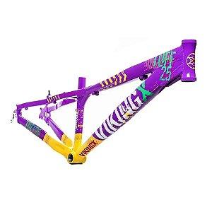 Quadro Viking X Tuff 25x Freeride Dirt Jump Roxo Amarelo DH