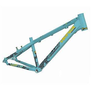 Quadro Viking X Tuff 30x Freeride Dirt Jump Azul Claro Fosco