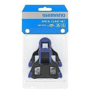 Taquinho Speed Taco Shimano Para Pedal Sm-sh12 Azul - Par