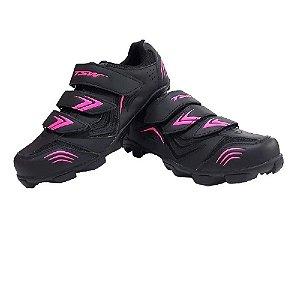 Sapatilha Mtb Newfit Preta/Pink Size 40