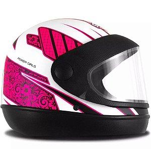 Capacete Feminino Pro Tork Super Sport Moto Power Girls