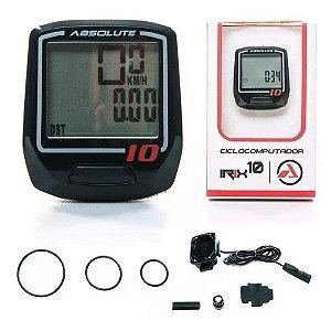 Ciclocomputador Velocímetro Bike Absolute Irix 10w C/ Fio