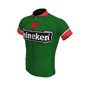 Camisa Ciclismo Bike Cerveja Heineken Verde Ziper Total