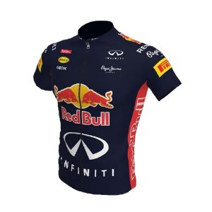 Camisa Ciclismo Bike Red Bull Azul Formula 1 Ziper Total