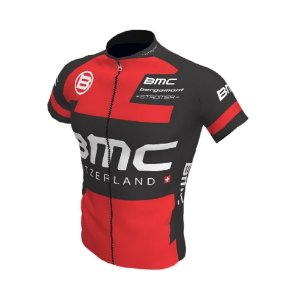 Camisa Ciclismo Bike Equipe BMC Vermelha Preta Ziper Total
