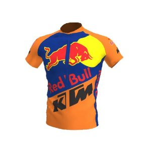 Camisa Ciclismo Bike Red Bull Equipe Ktm Laranja Ziper Total
