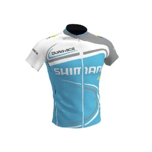 Camisa Ciclismo Bike Shimano Dura-Ace Azul Ziper Total