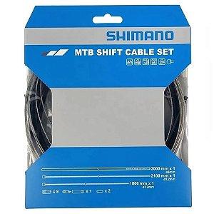 Cabo E Conduíte De Câmbio Shimano Sp41 Inox C/ Terminais
