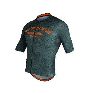 Camisa ASW ACTIVE FRONTIER Verde Musgo Laranja