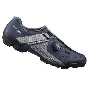Sapatilha Shimano Xc3 Sh-xc300 Sistema Boa Azul Pedal Clip 43BR-45EU
