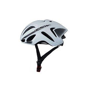 Capacete Tsw Team Plus Bicicleta Ciclismo Branco/Preto G