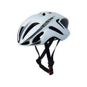 Capacete Tsw Team Plus Bicicleta Ciclismo Branco/Preto M