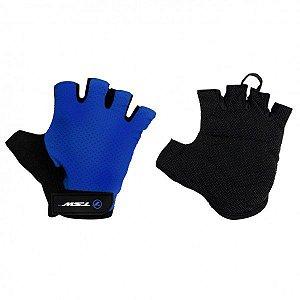 Luva Ciclismo Tsw Combat Meio Dedo Preto Azul Tamanho GG - Par