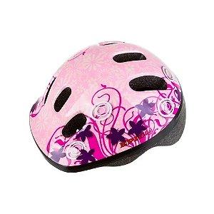 Capacete Infantil Bike Epic Line Mv6 Flores Rosas - PP