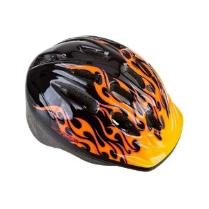 Capacete Infantil Bike Epic Line Mv12 Fire Yellow Chamas - M