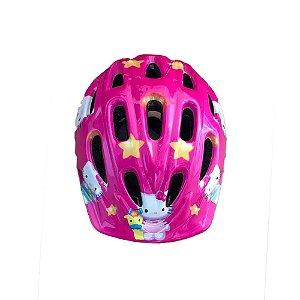 Capacete Infantil Bike Epic Line Mv12 Pink Hello Kitty - M