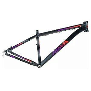 Quadro 29 Bike Mtb Rava Pressure 15,5 Preto/Vermelho/Violeta