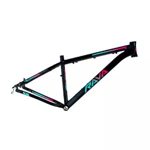 Quadro 29 Bike Mtb Rava Pressure Preto/Rosa/Azul 15,5