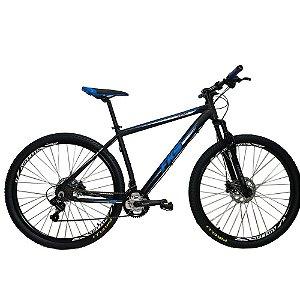 Bicicleta FKS Start Azul Aro 29 21V Shimano Tourney Freio Mecânico