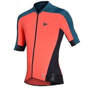 Camisa Ciclismo Masculina Sol Sports Training Poliamida Coral TAM M