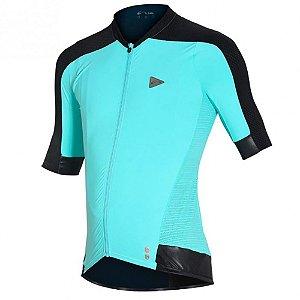 Camisa Ciclismo Masculina Sol Sports Training Poliamida Turquesa Pedra Tam GG