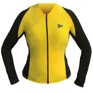 Blusa Ciclismo Feminina Manga Longa Sol Training Amarela Tam G