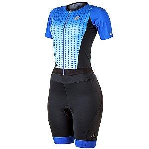 Macaquinho Ciclismo Feminino Mauro Ribeiro Spheric Azul Bike Mtb Speed - GG