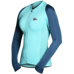 Camisa Ciclismo Feminina Manga Longa Sol Sports Training Verde Água Tam M