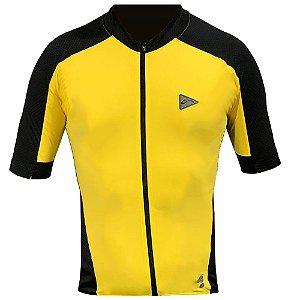 Blusa Ciclismo Masculina Manga Curta Sol Training Amarela Tam M