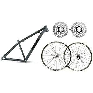 Kit Quadro Aro 29 Rava Pressure 19 Montagem Bike Mtb