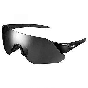 Óculos Ciclismo Shimano Aerolite CE-ARLT1-MR Preto com Lente Cinza Espelhada + Lente Transparente
