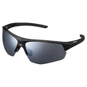 Óculos Ciclismo Shimano Twinspark CE-TSPK1-MR Preto com Lente Cinza Espelhada