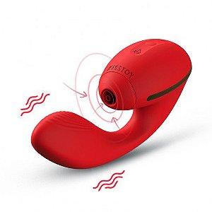 Massageador corporal com 10 modos de vibração diferentes e 10 modos de estimulação - KT002