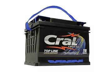 Bateria Cral 50Ah CL50FD - Linha Top Line (Cx. Alta)