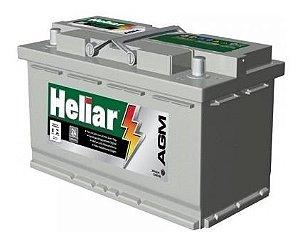 Bateria Heliar AGM 80Ah - AG80KD -  C/ Start-Stop