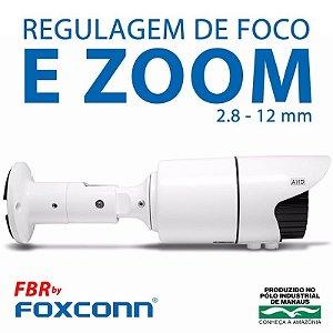 Câmera FBR Focusbras Varifocal com Zoom AHD FA-MBV1M Alta Definição (1.0MP | 720p | 2.8mm~12mm | Metal)