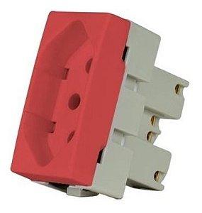 margirius - sleek - modulo Tomada 20A vermelho