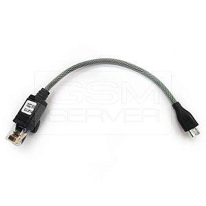 Cabo Samsung Micro UART C3300 RJ45 C/Resistor 530K  (p/ Z3X, UMT, Octoplus e Outras)
