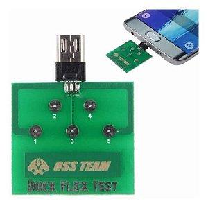 Placa de Teste Dock Flex para Dispositivos Android (Teste de Conectores, Carga e etc)
