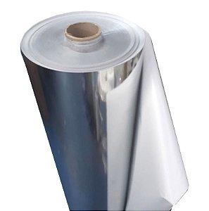 Bobina Filme BOPP Aluminizado Adesivado 500 mm x 20 m