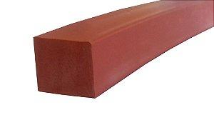 Perfil de Silicone 70 Shore A 12x12mm na cor Vermelho Óxido 300 ºC -M