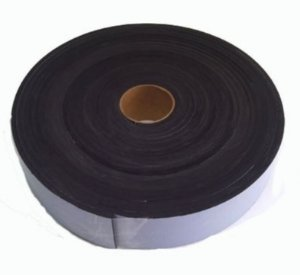 Fita de Vedação em EVA Preto - 5mm x 50mm x 10m