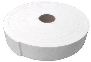 Fita de Vedação em EVA Branco Adesivo 2 Lados - 10mm x 55mm x 10m