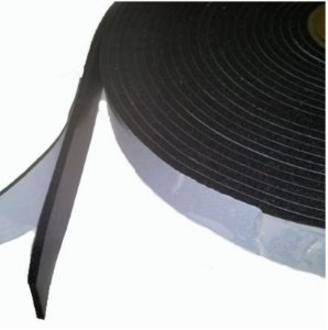 Fita de Vedação em Espuma de PVC Preto - 3mm x 100mm x 10m