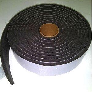 Fita de Vedação em Espuma de Poliuretano Cinza - 10mm x 10mm x 5m