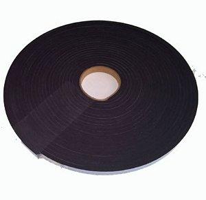 Fita de Vedação em Espuma de Neoprene Preto - 3mm x 20mm x 10m