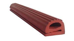 """Perfil de Silicone Tipo """"e"""" 14x18mm na cor Vermelho Óxido 300 ºC - M"""