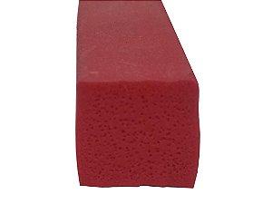 Perfil de Silicone  Esponjoso 30 Shore A 15x15mm na cor Verm. Telha   240 ºC - M