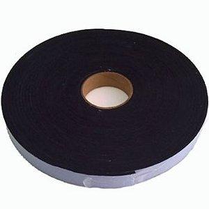 Fita de Vedação em Espuma de EPDM Preto Adesivado 2 faces - 7mm x 20mm x 10m