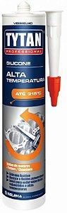 Silicone Tytan Alta Temperatura Acetico 280G Vermelho